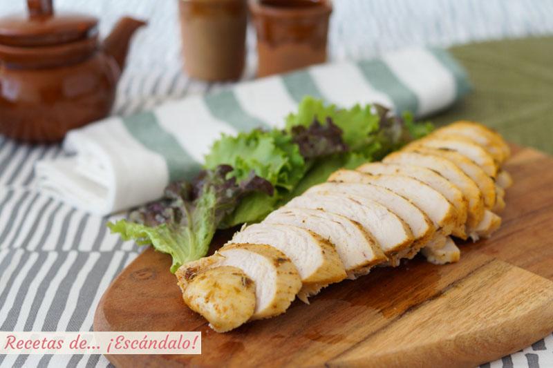 Pechugas de pollo al horno jugosas y riquisimas