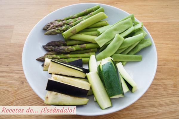 Verduras para la tempura