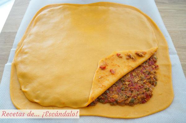 Empanada gallega con masa casera