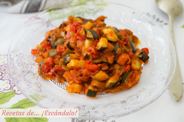 Receta de pisto manchego de verduras tradicional, muy facil y sabroso