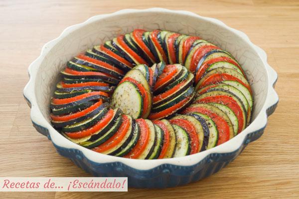 Receta de ratatouille de verduras al horno