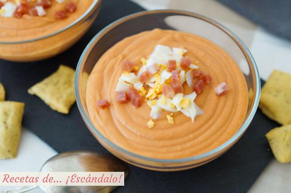 Porra antequerana tradicional, receta de una sopa fria deliciosa
