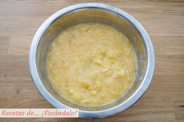 Mezcla para tortilla de patatas y cebolla