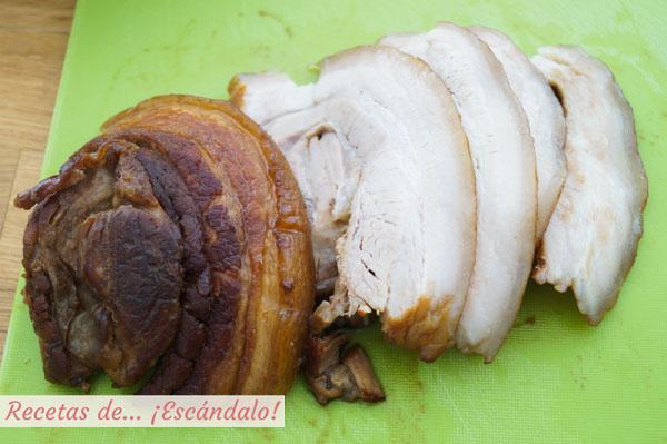 Chashu o panceta de cerdo marinada