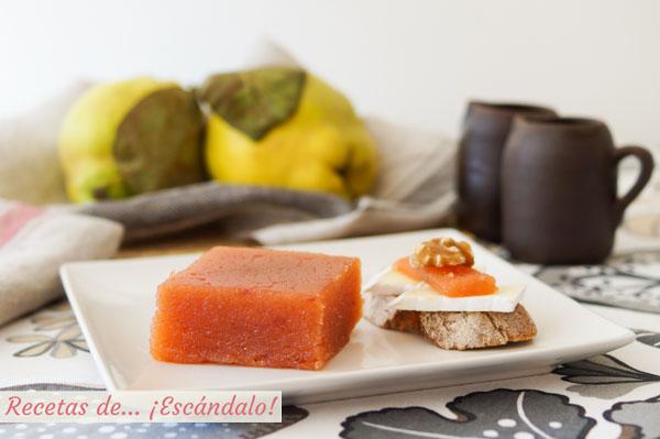 Como hacer dulce de membrillo casero o carne de membrillo. Receta tradicional