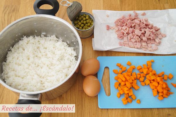 Ingredientes arroz tres delicias