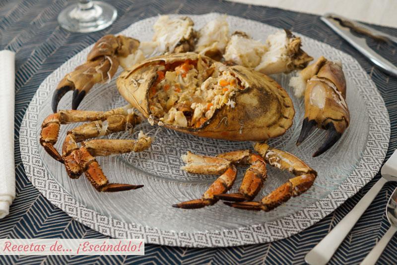 Como cocer bien un buey de mar, tiempo de coccion, como abrirlo...