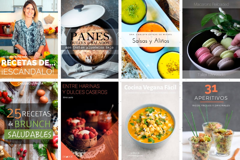 portadas libros del bundle de gastronomía