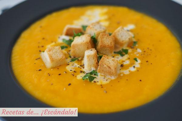 Como hacer crema de calabaza y zanahoria, saludable y deliciosa