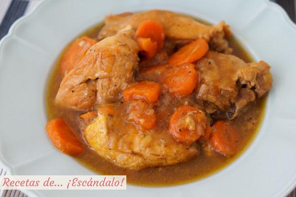 Como hacer pollo en salsa tradicional con patatas salteadas