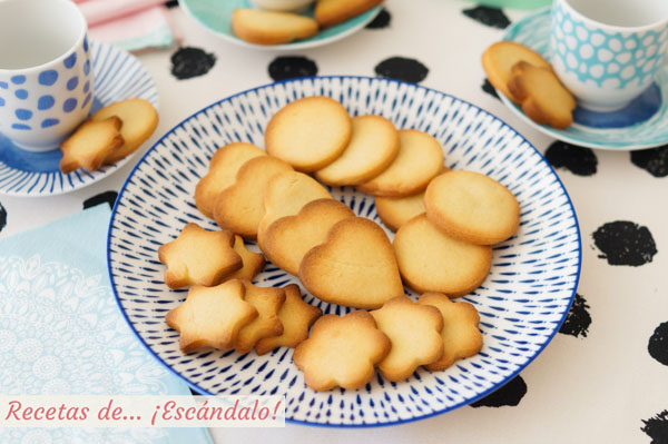 Galletas de mantequilla caseras o pastas de te, muy faciles