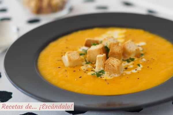 Receta de crema de calabaza y zanahoria, saludable y deliciosa