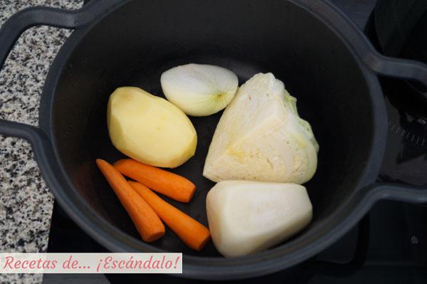 Verduras para el cocido madrileno