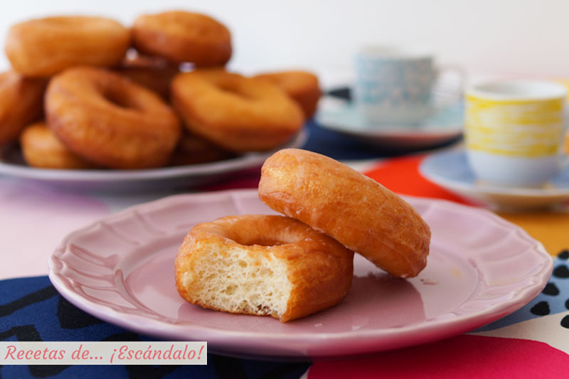 Donuts caseros tiernos y deliciosos. Receta sencilla paso a paso