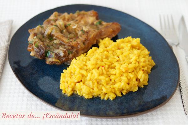 Receta de risotto a la milanesa con azafran