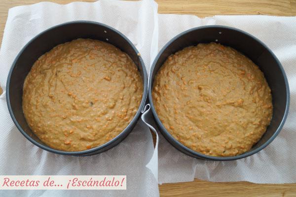 Masa para tarta de zanahoria o pastel de zanahoria