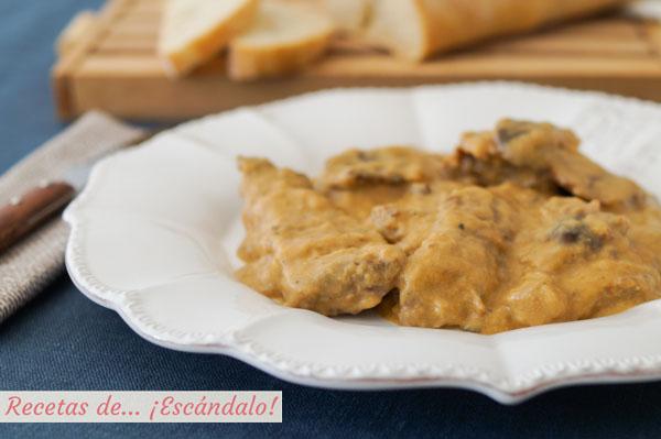 Receta de fricando de ternera y setas, un plato tradicional catalan deliciosa