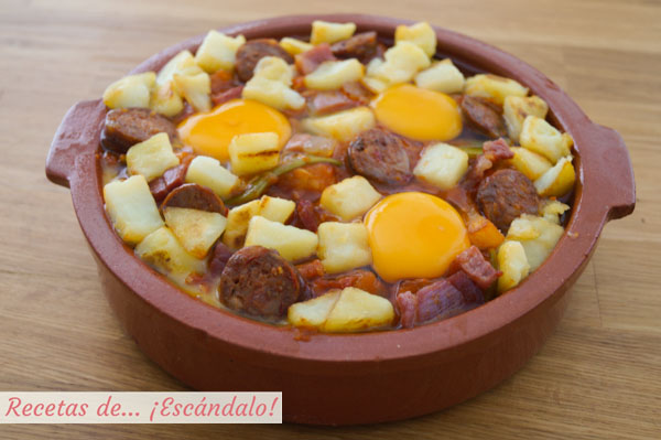 Como hacer huevos a la flamenca