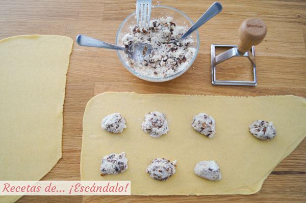 Como hacer raviolis de pasta fresca rellenos