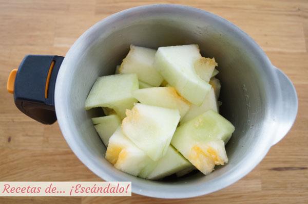 Como hacer sopa de melon con jamon