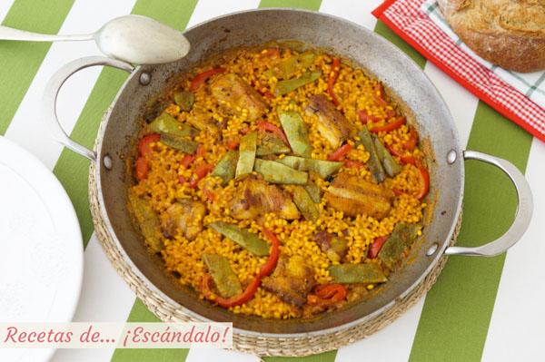 Receta de arroz con costillas de cerdo, muy facil y super sabroso