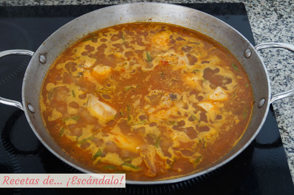 Arroz caldoso con pollo y verduras