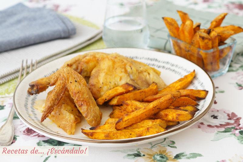 Boniatos o batatas al horno con especias, una guarnicion ideal