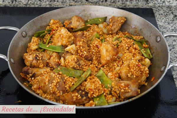 Ingredientes paella mixta