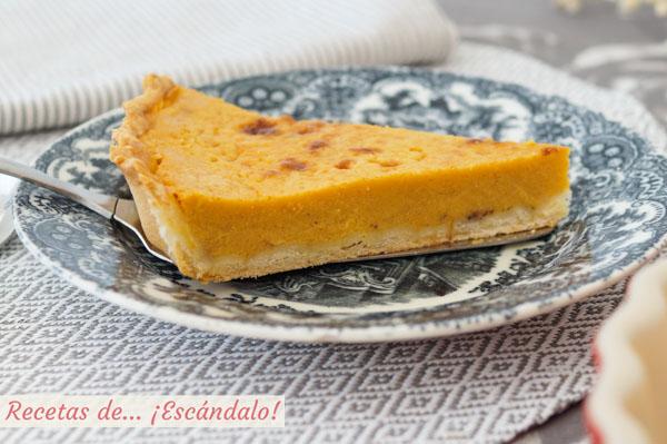 Receta de pastel o tarta de calabaza, la famosa tarta pumpkin pie americana