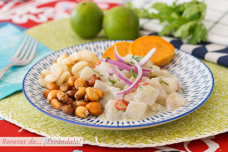 Ceviche Peruano De Corvina Con Leche De Tigre Muy Facil Y Rico Recetas De Escandalo