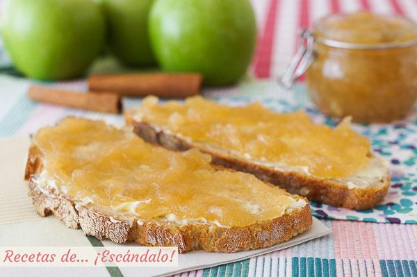 Receta de mermelada de manzana casera con canela, sencilla y deliciosa