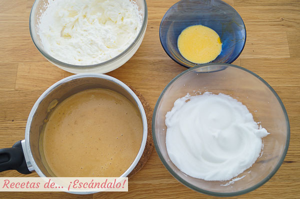 Elaboraciones e ingredientes mousse de turron