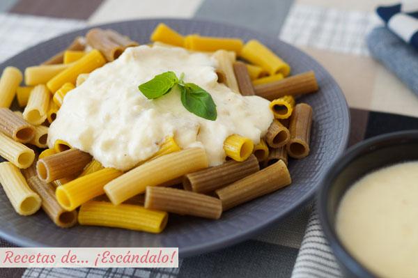 Receta de salsa de queso con o sin nata y muy facil