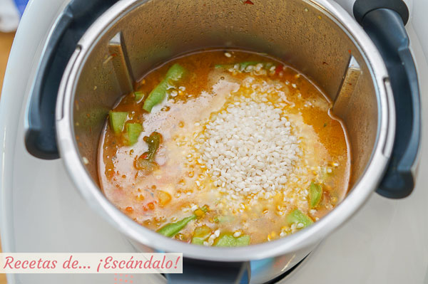 Como hacer arroz con pollo thermomix