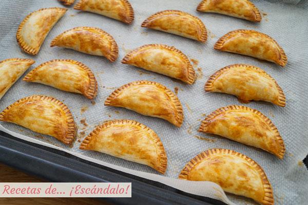Como hacer empanadillas al horno de atun y sofrito, muy faciles y ricas