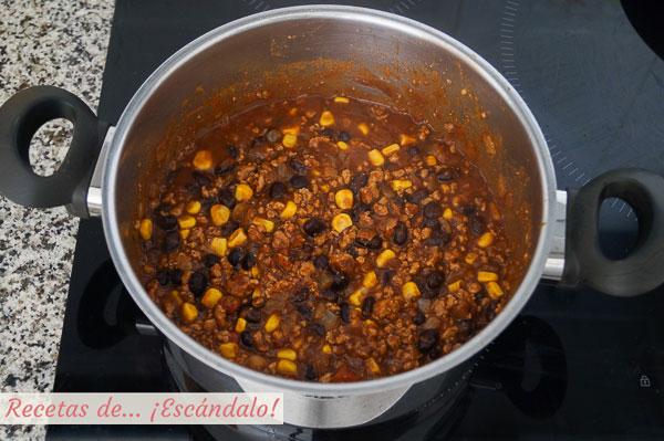 Chili con carne casero