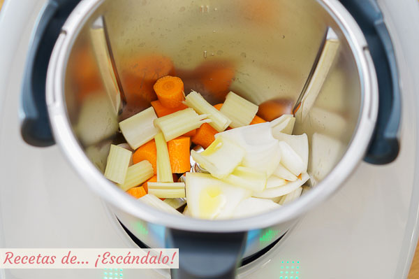 Ingredientes sofrito salsa bolonesa thermomix