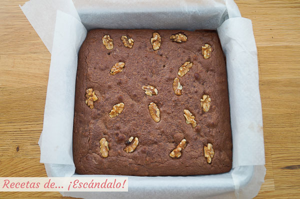 Brownie casero de chocolate