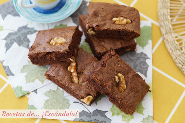 Como hacer brownie de chocolate con nueces, humedo y denso, irresistible