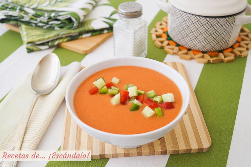 Gazpacho andaluz en Thermomix, refrescante y saludable