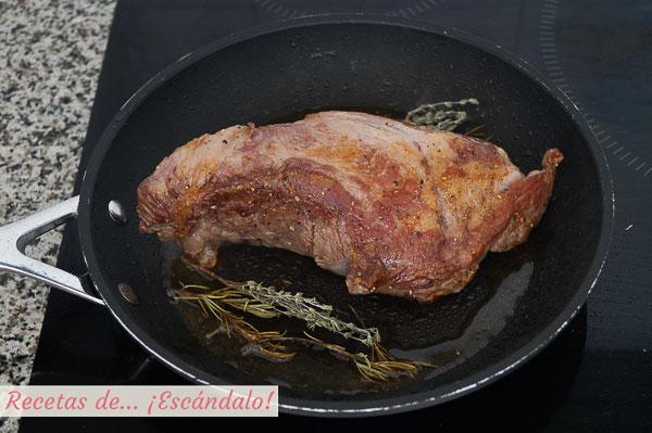 Presa iberica de cerdo a la plancha