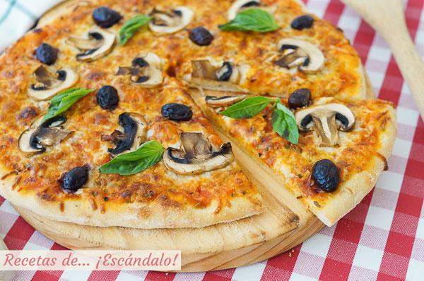 Receta de masa de pizza en Thermomix. Casera, riquisima y facil
