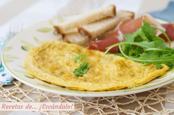 Receta de tortilla francesa perfecta, con trucos y consejos