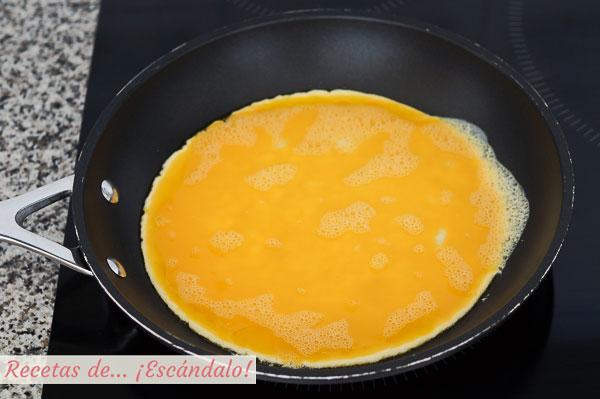 Tortilla francesa casera