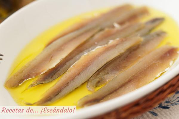 Como hacer anchoas caseras en salazon. Receta de un aperitivo ideal