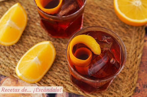 Como hacer el cocktail Negroni, un clasico italiano para el aperitivo. Receta e ingredientes
