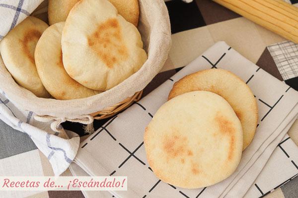 Como hacer pan de pita casero o pan arabe. Receta muy sencilla paso a paso