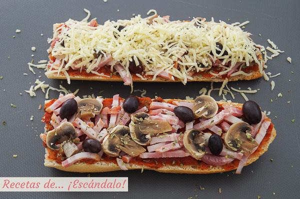 Ingredientes pan pizza