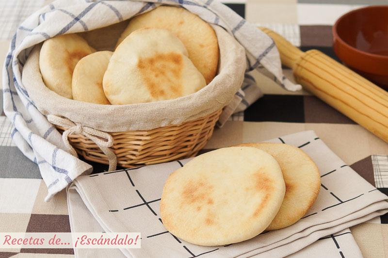 Pan de pita casero o pan arabe. Receta muy sencilla paso a paso