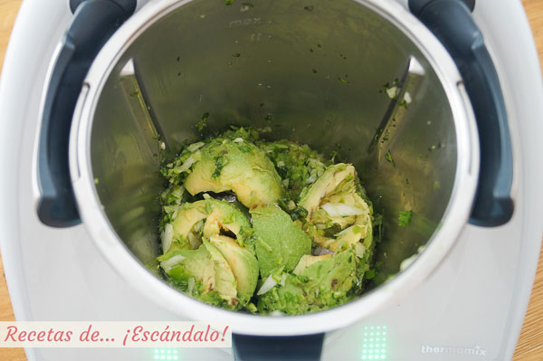 Ingredientes guacamole thermomix